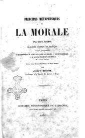 Principes métaphysiques de la morale par Emm. Kant