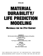 Material Durability life Prediction Modeling PDF