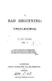 A bad beginning [by K.S. Macquoid].