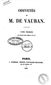 Oisivetes de M. de Vaudan