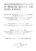 An Illustrated Dictionary of Medicine  Biology and Allied Sciences PDF