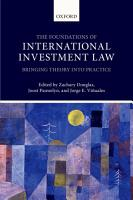 The Foundations of International Investment Law PDF