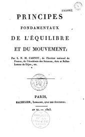 Principes fondamentaux de l'équilibre et du mouvement