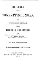 Die Lehre von den Tonempfindungen als physiologische Grundlage für die Theorie der Musik