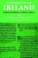 A new history of Ireland  8   A companion to Irish history   Pt  1  A chronology of Irish history to 1976 PDF