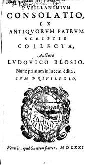 Pusillanimium consolatio