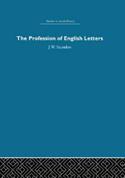 The Profession of English Letters