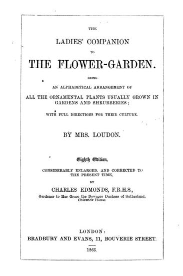 The Ladies  Companion to the Flower Garden PDF