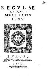 Regulae aliquot Societatis Iesu
