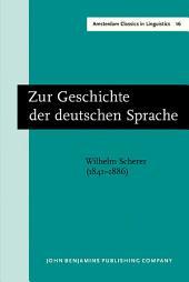 Zur Geschichte der deutschen Sprache: New edition