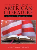 How to Teach American Literature PDF