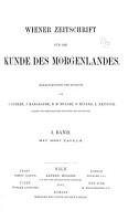 Wiener Zeitschrift f  r die Kunde des Morgenlandes PDF