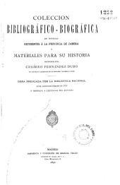 Coleccion bibliográfico-biográfica de noticias referentes á la provincia de Zamora: ó materiales para su historia