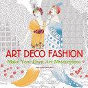 Art Deco Fashion  Art Colouring Book  PDF