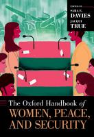 The Oxford Handbook of Women  Peace  and Security PDF
