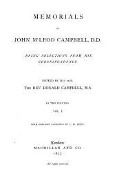 Memorials of John McLeod Campell: Volume 1
