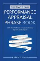 The Quick and Easy Performance Appraisal Phrase Book PDF