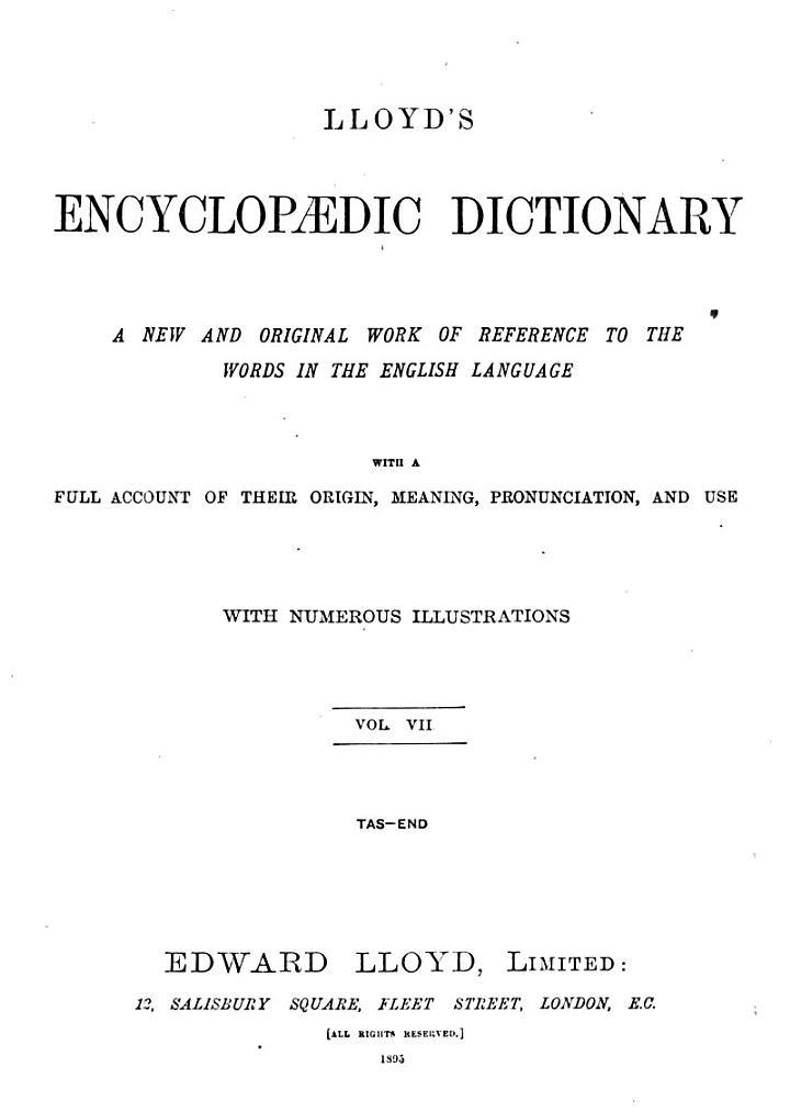 Lloyd's Encyclopædic dictionary