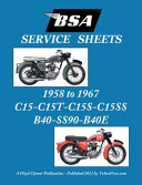 BSA C15-C15t-C15s-C15ss-B40-Ss90-B40e 'Service Sheets' 1958-1967