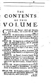 An Abridgement Of Mr. Baxter's History Of His Life And Times: With An Acount of the Ministers, [et]c. who Were Ejected After the Restauration, of King Charles II. : Their Apology for Themselves, and Their Adherents, Containing the Grounds of Their Nonconformity ; Their Treatment in the Reign of King Charles, and King James; and After the Revolution; And the Continuation of Their History, to the Passing of the Bill Against Occasional Conformity, in 1711 ; In Two Volumes, Volume 1