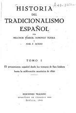 Historia del tradicionalismo espa  ol PDF