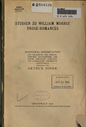 Studien zu William Morris' Prose-Romances