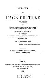 Annales de l'agriculture francoise. Red. par ... Tessier: Volume5;Volume14