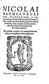 Ad Laurentium Medicem de Principe libellus