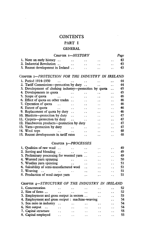 Report on Survey of the Woollen and Worsted Industry