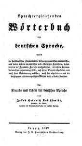 Sprachvergleichendes Wörterbuch der deutschen Sprache