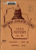 Report of the Wisconsin Legislative Council