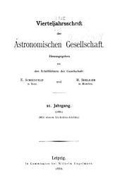 Vierteljahrschrift der Astronomischen Gesellschaft: Bände 21-22