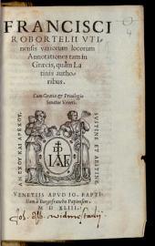 Variorum locorum annotationes tam in graecis, quam latinis authoribus