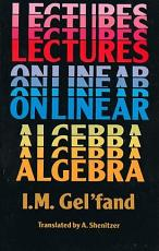 Lectures on Linear Algebra PDF