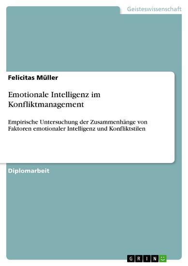 Emotionale Intelligenz im Konfliktmanagement PDF
