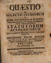 Quaestio de selectu studiorum
