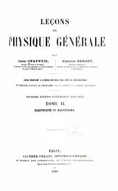 Leçons de physique générale: Volumes2à4