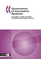 Governance of Innovation Systems  Volume 3 Case Studies in Cross Sectoral Policy PDF