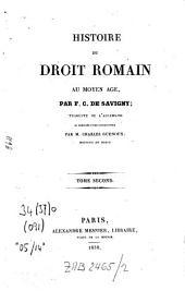 Histoire du droit romain au moyen âge: Volume2