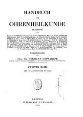 Handbuch der Ohrenheilkunde: Band 2