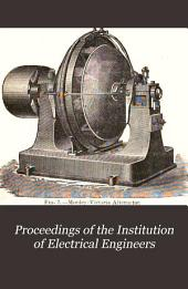Proceedings of the Institution of Electrical Engineers: Volume 18