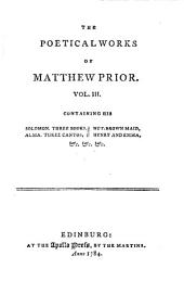 The Poetical works of Matthew Prior