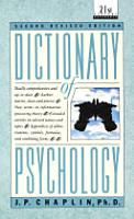 Dictionary of Psychology PDF