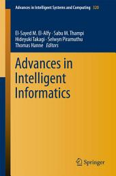 Advances in Intelligent Informatics