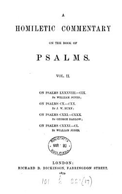 A Homilectical Commentary on the Book of Psalms PDF