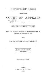 Reports of Cases Decided in the Court of Appeals of the State of New York: Volume 144