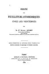 Origine des feuillets blastodermiques chez les vertébrés