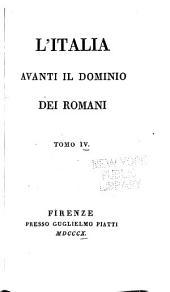 L'Italia avanti il domonio dei romani...