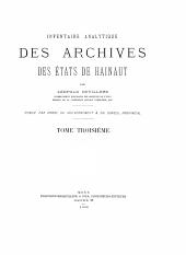 Inventaire analytique des archives des états de Hainaut: Volume3