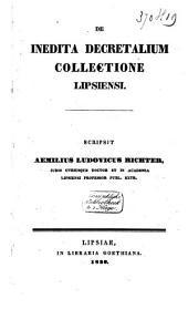 De inedita decretalium collectione Lipsiensi: commentatio